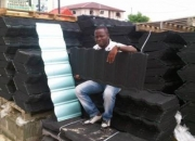 Stone coated step tiles roofing sheets in Lagos Nigeria