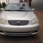 Auctioned 2003 Toyota Corolla silver with full option for grab
