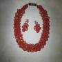 classic orange jewelry 18k crystal beads