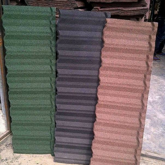 Docherich bond stone coated roofing sheet in stock now 2100, call 07062764235