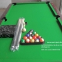 Standard 7 ft by 3.5 ft snooker pool tables.